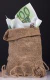 Dinheiro do saco Fotografia de Stock