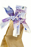 Dinheiro do saco Fotos de Stock Royalty Free