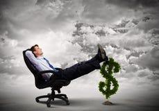 Dinheiro do salário Fotografia de Stock Royalty Free