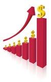 Dinheiro do salário Imagens de Stock Royalty Free