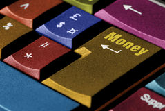 Dinheiro do teclado Fotografia de Stock