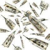 Dinheiro do vôo Imagem de Stock Royalty Free
