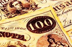 Dinheiro do vintage Imagem de Stock