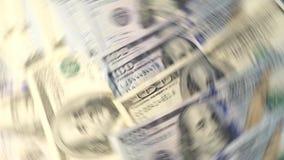 Dinheiro do voo na nota de dólar branca do fundo fotografia de stock royalty free