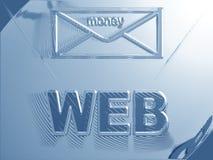Dinheiro do Web Ilustração Stock