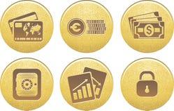 Dinheiro dos ícones no vetor Imagens de Stock Royalty Free
