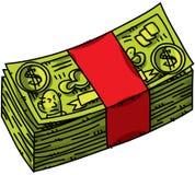 Dinheiro dos desenhos animados Fotos de Stock