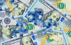Dinheiro dos enigmas Fotografia de Stock