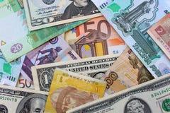 Dinheiro dos países diferentes Fotos de Stock Royalty Free