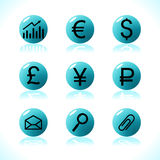 Dinheiro dos símbolos do negócio Fotografia de Stock Royalty Free