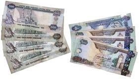 Dinheiro dos UAE fotografia de stock royalty free