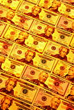 Dinheiro dourado Fotos de Stock