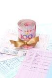 Dinheiro e caderneta bancária Imagens de Stock Royalty Free