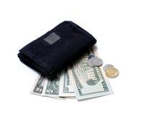 Dinheiro e carteira II Fotografia de Stock