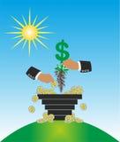 Dinheiro e casino ilustração royalty free
