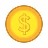 Dinheiro e ícone liso do projeto gráfico de negócio Fotos de Stock