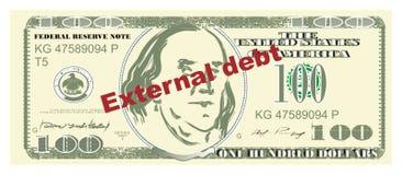 Dinheiro e dívida externa ilustração do vetor