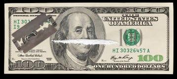 Dinheiro e drogas Imagens de Stock