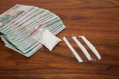 Dinheiro e drogas 3 Fotografia de Stock Royalty Free