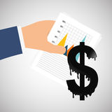 Dinheiro e estatísticas Fotografia de Stock