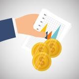 Dinheiro e estatísticas Fotografia de Stock Royalty Free