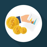 Dinheiro e estatísticas Imagem de Stock