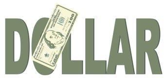 Dinheiro e grande palavra ilustração do vetor