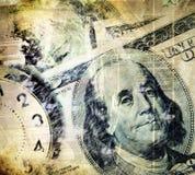 Dinheiro e imagem do conceito do tempo Fotos de Stock Royalty Free
