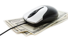 Dinheiro e Internet Fotos de Stock Royalty Free