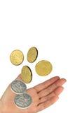 Dinheiro e mão Imagens de Stock