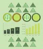 Dinheiro e moedas do infographics do vintage Imagem de Stock