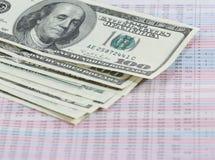 Dinheiro e números Fotografia de Stock