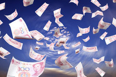 Dinheiro e remoinho Fotos de Stock Royalty Free