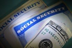 Dinheiro e segurança social Fotografia de Stock