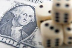 Dinheiro e sorte Fotografia de Stock Royalty Free