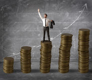 Dinheiro e sucesso Imagens de Stock Royalty Free