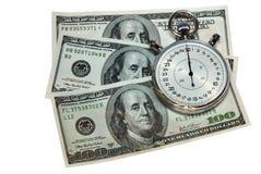 Dinheiro e tempo Foto de Stock