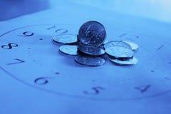 Dinheiro e tempo! Fotos de Stock Royalty Free