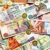 Dinheiro egípcio colorido