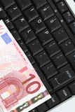 Dinheiro em linha imagem de stock royalty free
