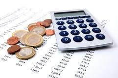 Dinheiro em números do negócio Fotografia de Stock