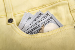 Dinheiro em seu bolso Imagem de Stock