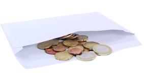 Dinheiro em um envelope. foto de stock royalty free