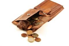 Dinheiro em uma bolsa fotos de stock royalty free