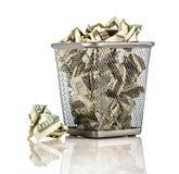 Dinheiro em uma cesta Imagens de Stock Royalty Free