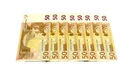 Dinheiro em uma fileira Fotos de Stock Royalty Free