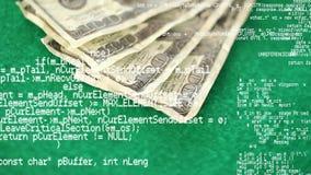 Dinheiro em uma tabela verde video estoque