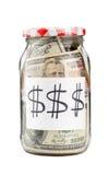 Dinheiro enlatado fotografia de stock