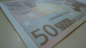 Dinheiro, 50 Euro, finança do lucro, moeda, Europa Fotografia de Stock