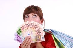 Dinheiro extrangeiro de Europa foto de stock